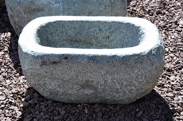 Rough Hewn Granite Trough Extra Large
