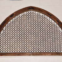 Old Teak & Iron Arched Panel