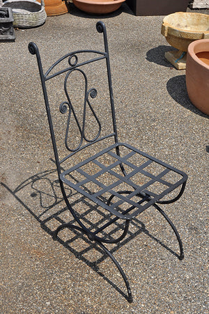 Italian Hand Wrought Iron Chair