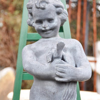 Child with Bird Fountain