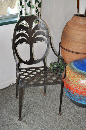 Victorian Chair with Palm Leaf