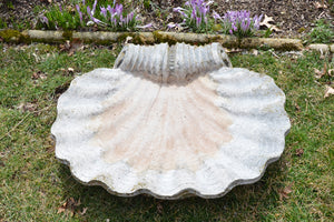 Seashell Birdbath from Historic Chatham Manor