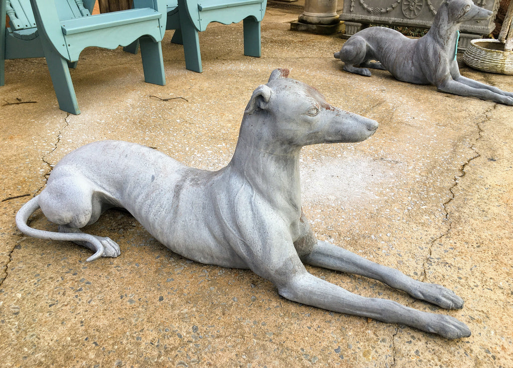 Sitting Greyhounds - priced as pair