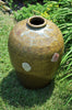 Antique Green Combed Storage Jar