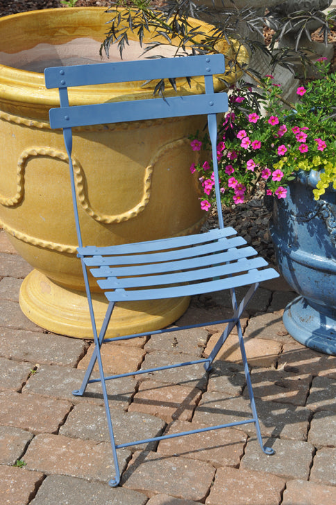Enjoyable French Square Folding Chair Corn Flower Blue Caraccident5 Cool Chair Designs And Ideas Caraccident5Info