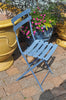 French Square Folding Chair - Corn Flower Blue