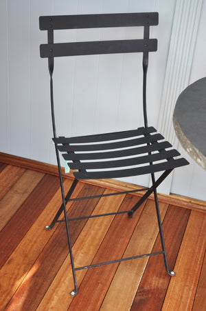 French Square Folding Chair - Black