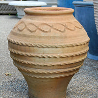 Handthrown Planter with Snake Design