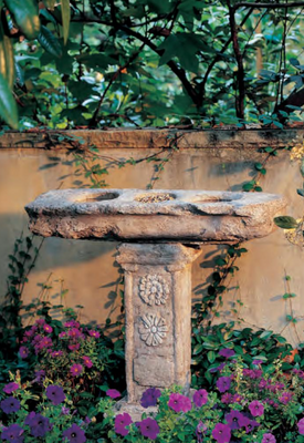 Old World Birdbath