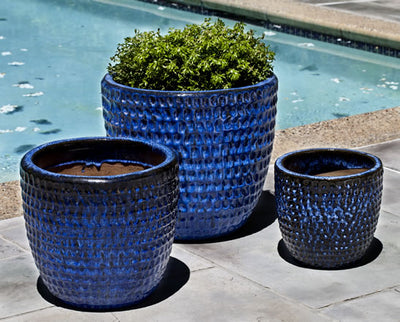 Thumbprint Planters - Blue - 3 Sizes