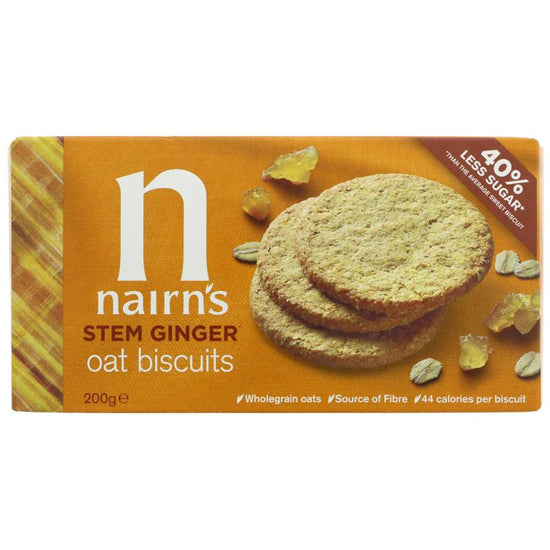 Stem Ginger Oat Biscuits