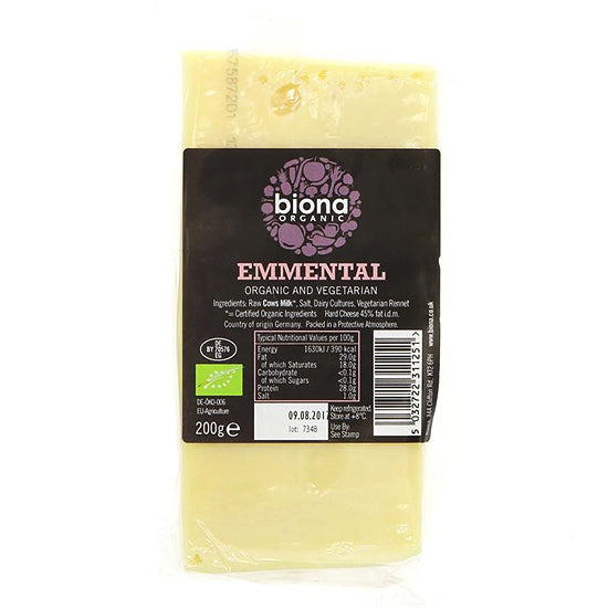 Emmental Cheese Organic