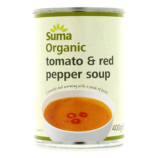 Tomato & Red Pepper SoupTinned  Organic