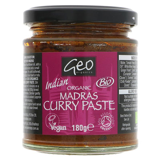 Madras Curry Paste Organic