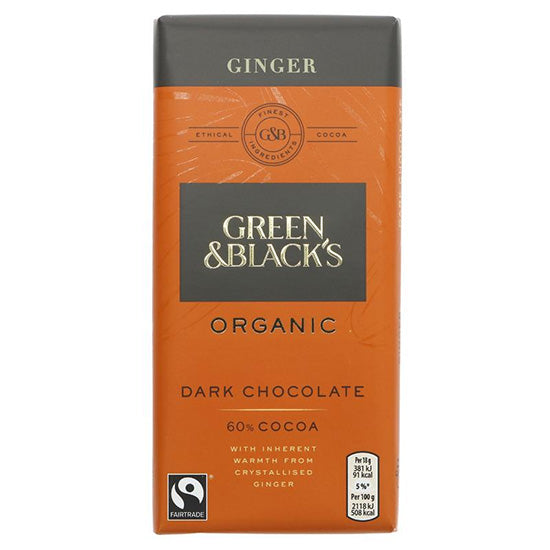 Dark Chocolate & Ginger Bar Organic