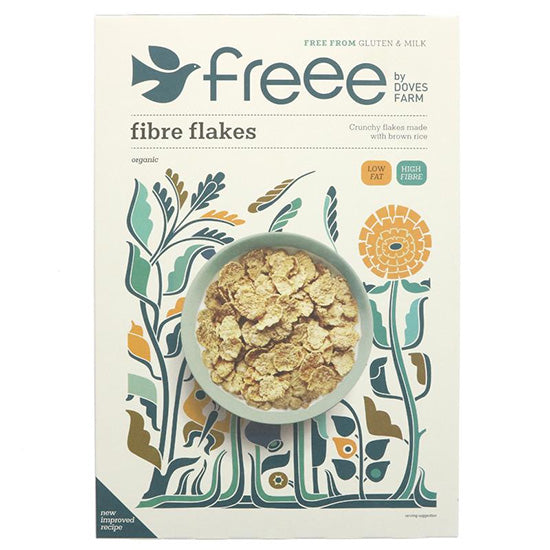 Fibre Flakes Breakfast Cereal Gluten Free Organic