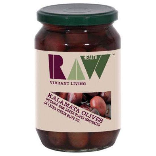 Kalamata Raw Olives in Organic Extra Virgin Olive Oil