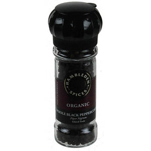 Black Peppercorns in grinder Organic