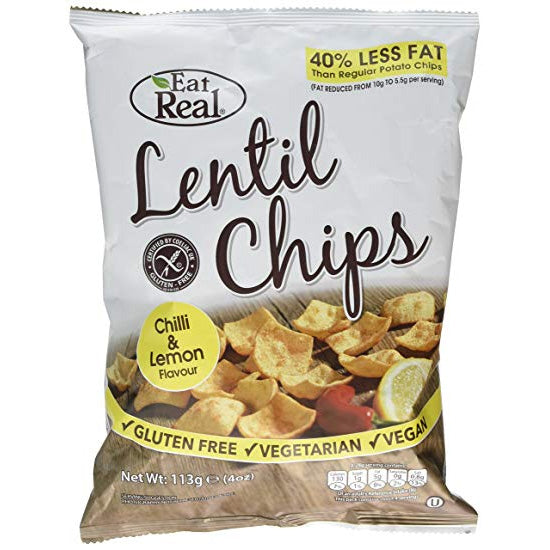 Lentil Chilli & Lemon Chips