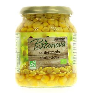 Organic Sweetcorn in jars