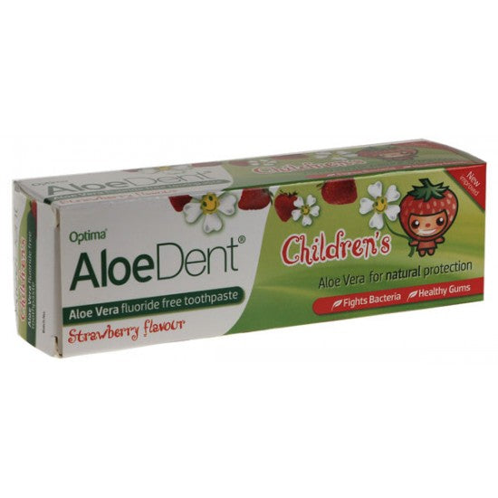Childrens Aloe Vera Toothpaste with Strawberry Fluoride free