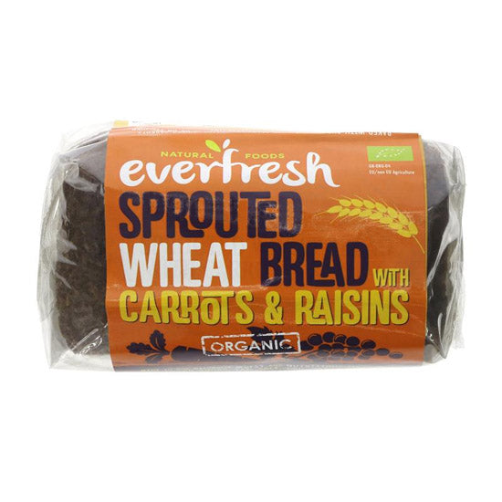 Sprouted Wheat Carrot & Raisin Bread