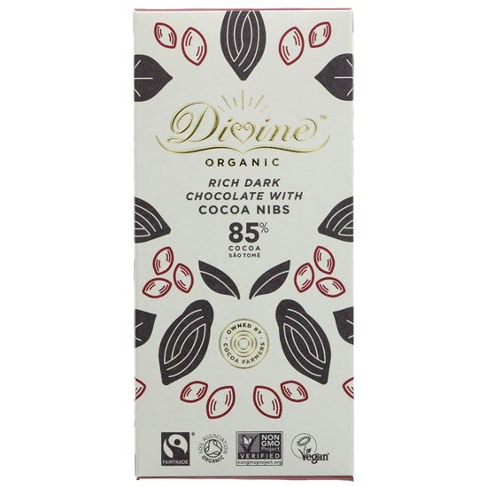 85% Dark Chocolate & Cocoa Nibs Organic