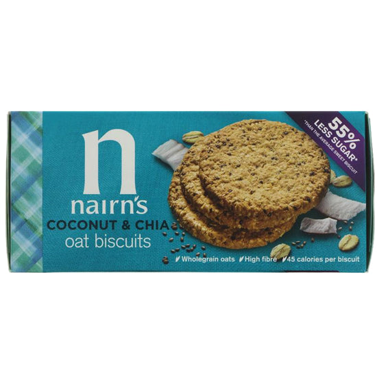 Coconut & Chia Oat Biscuits