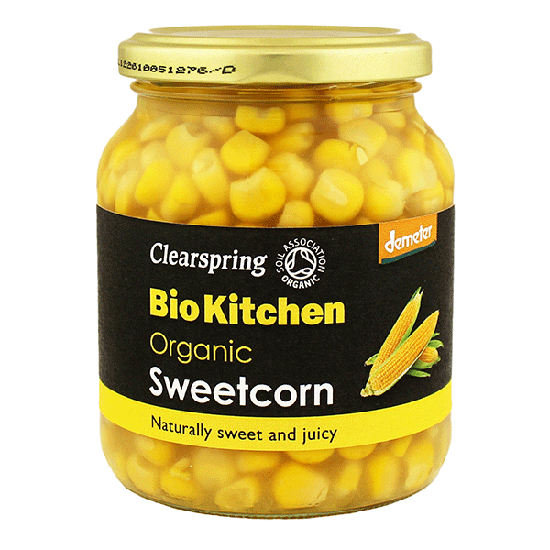 Organic Sweetcorn in jar