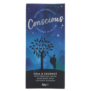 Organic Chia & Coconut Raw Choc Bar