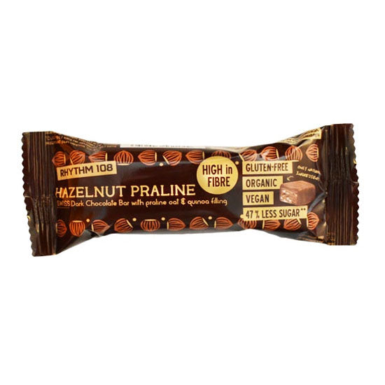 Hazelnut Praline Dark Chocolate Bar Organic