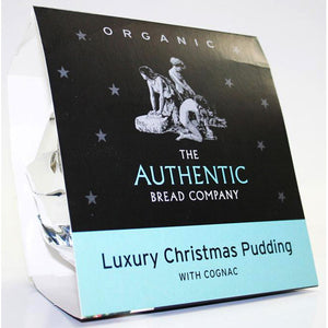 Luxury Christmas pudding with cognac