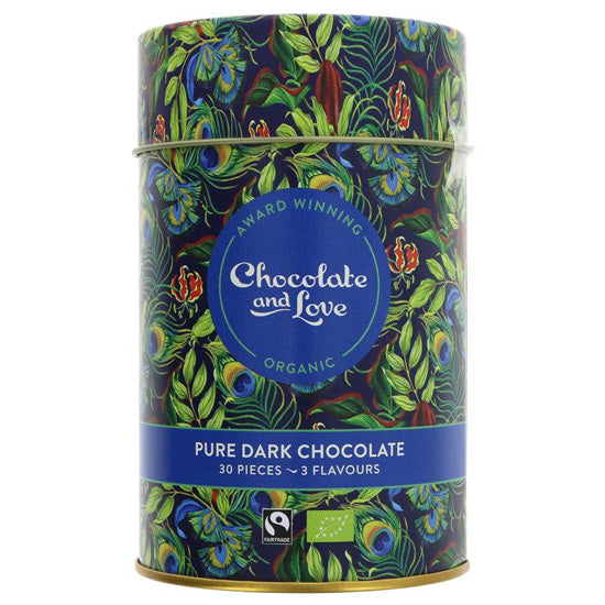Rich Dark Chocolate Gift Tin Organic