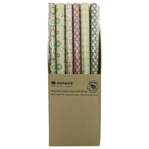 Rolled Geo Print Wrapping Paper