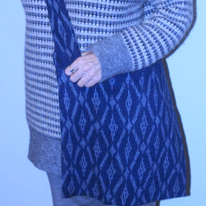 Woven Ikat Cross Body Tote Bag