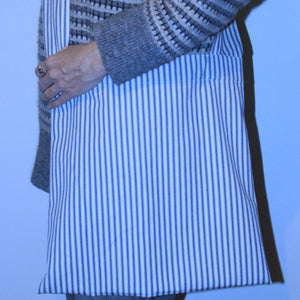 Vintage French Mattress Ticking Cross Body Bag