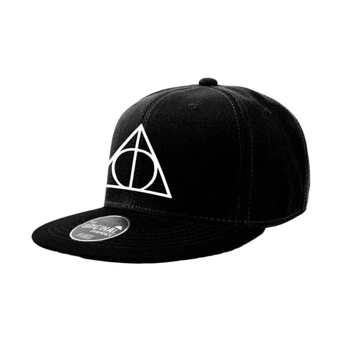 Officially licensed Harry Potter snapback features a Deathly Hallows symbol design