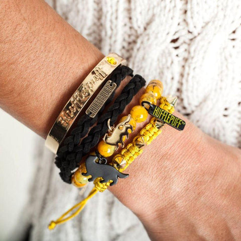 Officially licensed Hufflepuff party arm bracelets
