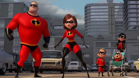 The Incredibles clan looking ready to spring into action