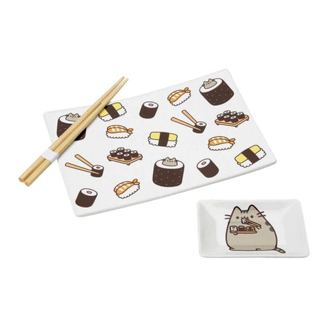 Tuck into your favourite sushi with a little help from your feline friend, Pusheen!