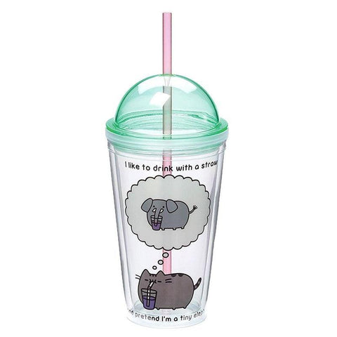 Officially licensed pastel Pusheen drinking tumbler