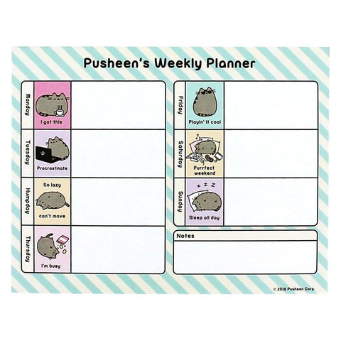 Pusheen Weekly Planner