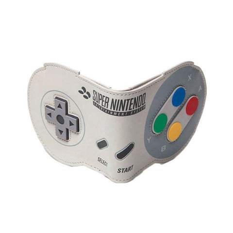 SNES Controller Shaped Novelty Bi-Fold Wallet