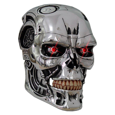The Terminator means business and this head replica is no exception