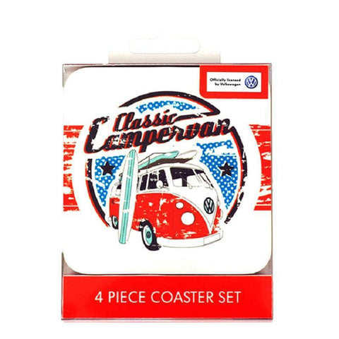 VW Classic Campervan Coaster Set