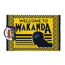 Load image into Gallery viewer, Black Panther Welcome To Wakanda Doormat.