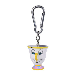 Disney Beauty and the Beast Chip 3D Keyring.