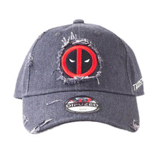 Load image into Gallery viewer, Marvel Deadpool Logo Worn Curved Bill Cap