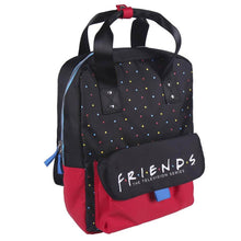 Load image into Gallery viewer, Friends Logo Polka Dot Black and Red Backpack
