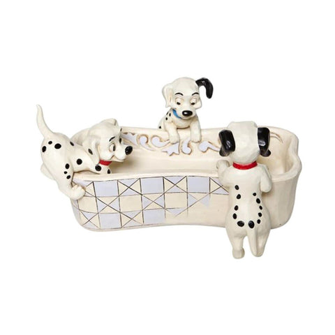 Disney Traditions 101 Dalmatians 'Puppy Bowl' Figurine.
